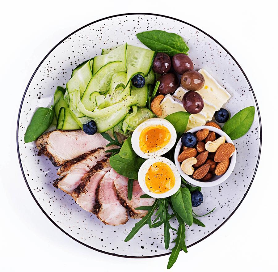 Repas sain et équilibré pour régime cétogène